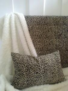 Sengegavl i leopard