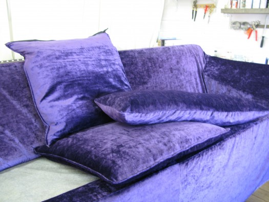 Sofa & puter i tekstil fra Designers Guild