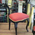 Nydelig stolen er klar for nytt stoff