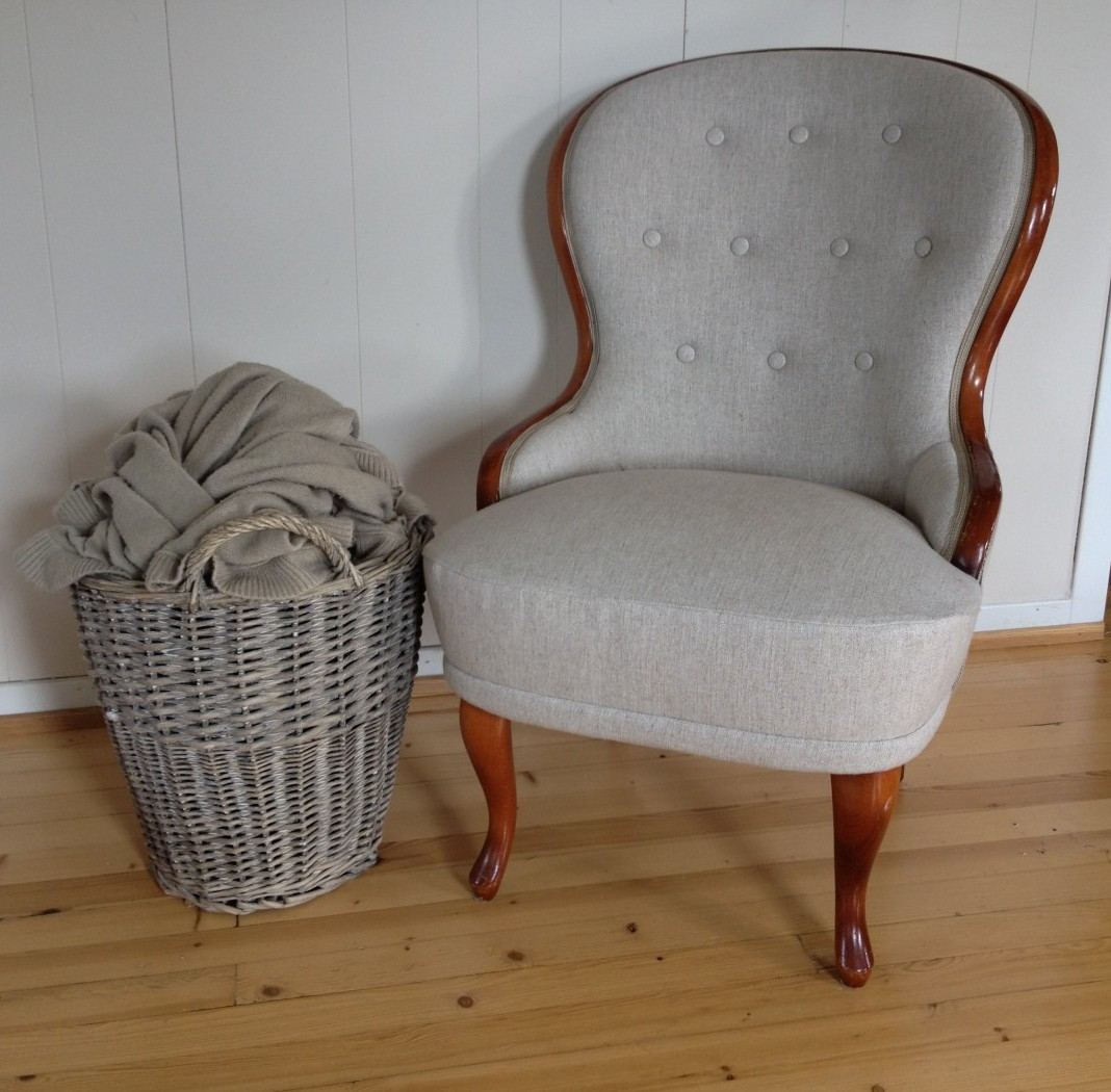 Emma stol i lin fra Designers Guild