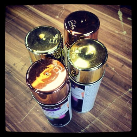 Gull & kobber lakk fra Biltema