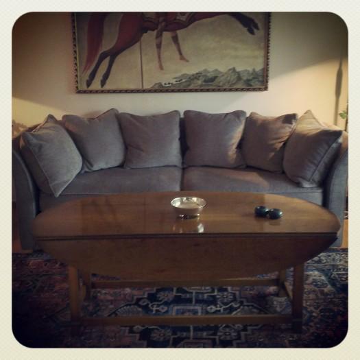 Sofa i tekstil fra O & L