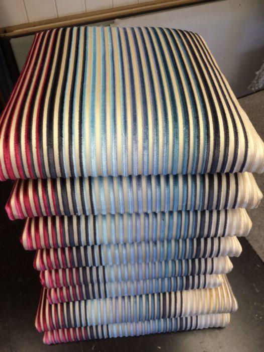 Spisestueseter i Missoni tekstiler